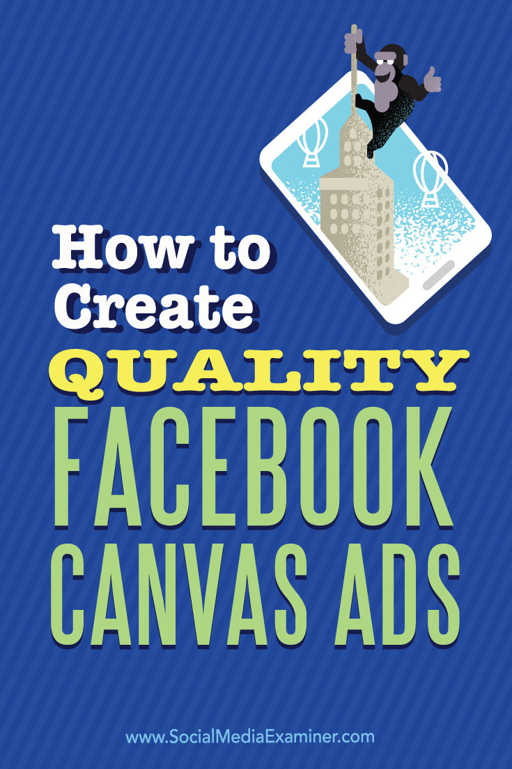 create quality facebook canvas ads