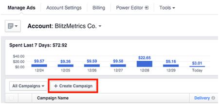 create facebook ad campaign