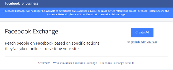 facebook ad exchange closing