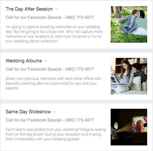 facebook service details