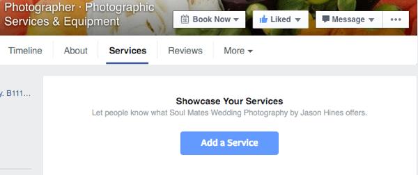 add a facebook service