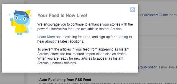Thông báo tin vui từ Facebook