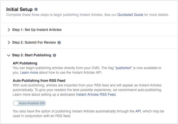 Khi được xét duyệt, bạn nên chọn Auto-Publish Off