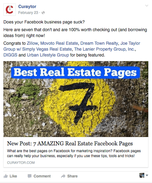 Facebook-Post empfehlen Personen und Seiten