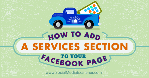 use services tab on facebook page