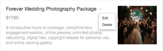 edit facebook service