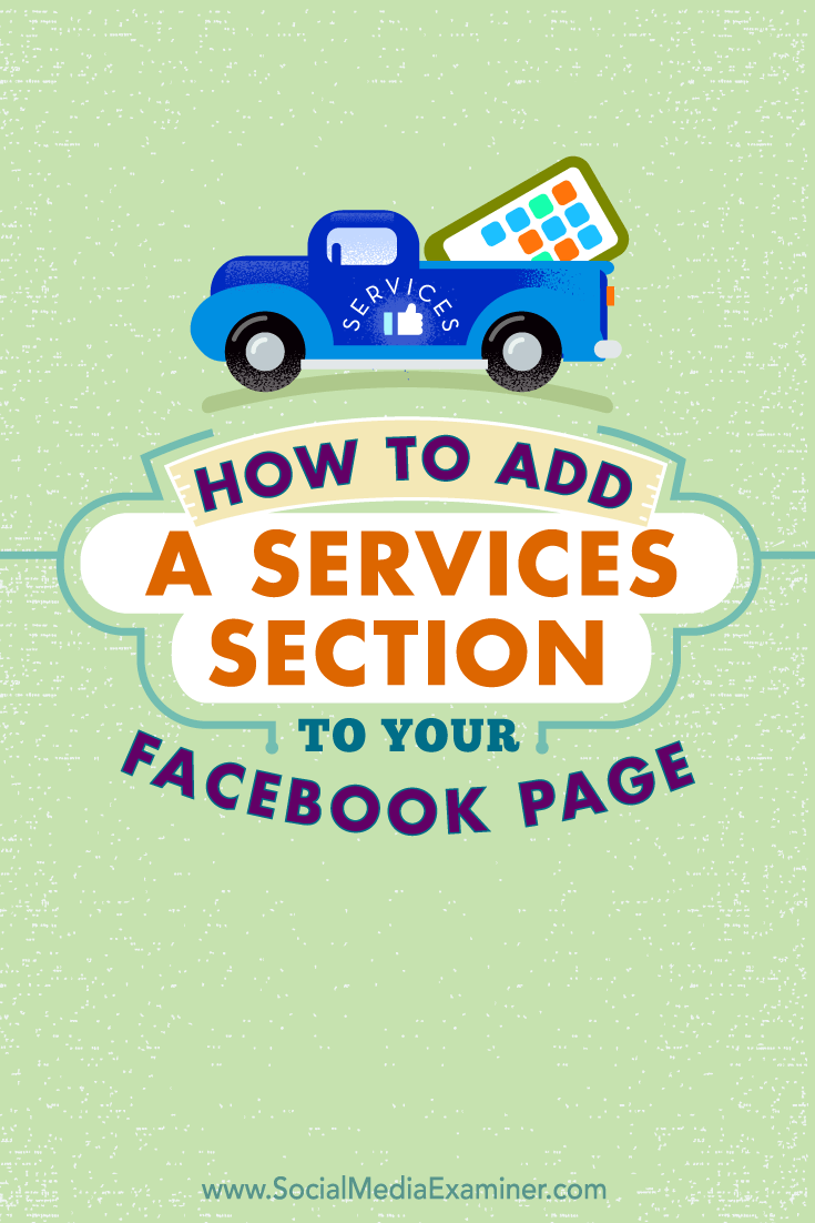 add facebook page services section