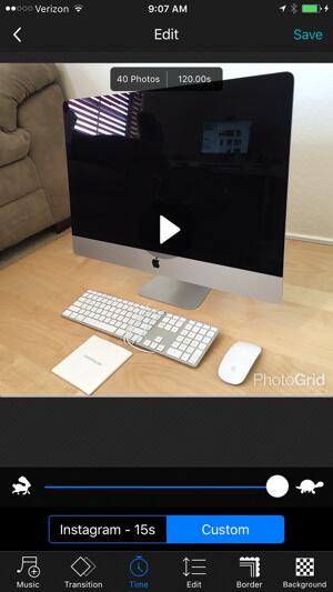 photo grid create slideshow
