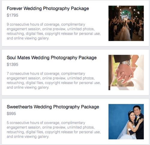 view facebook service details