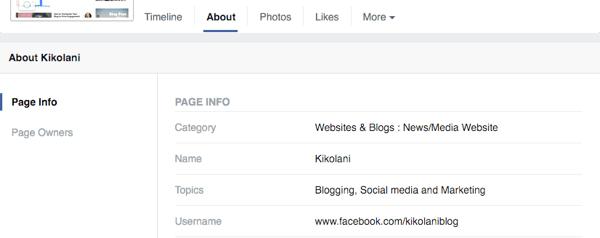 Facebook-Seitenkategorie bearbeiten