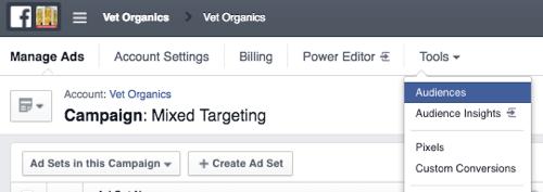 facebook upload customer database