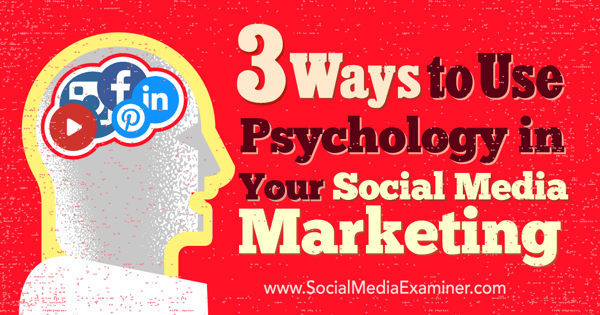 psychology in social media marketing