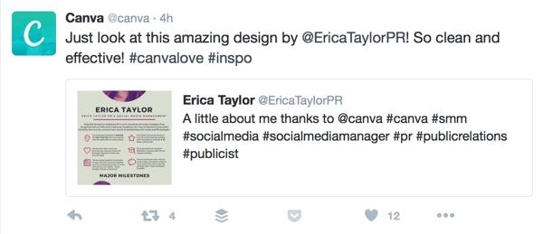 tweet to fan example