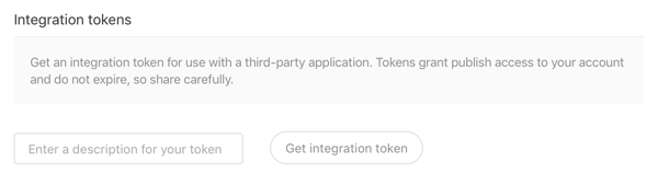 medium integration token