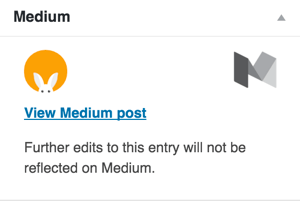 medium wordpress plugin confirmation
