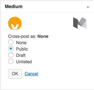medium wp plugin public option