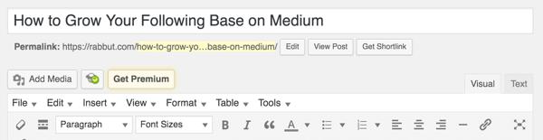 wordpress edit mode