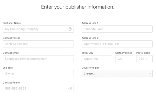 apple news publisher info
