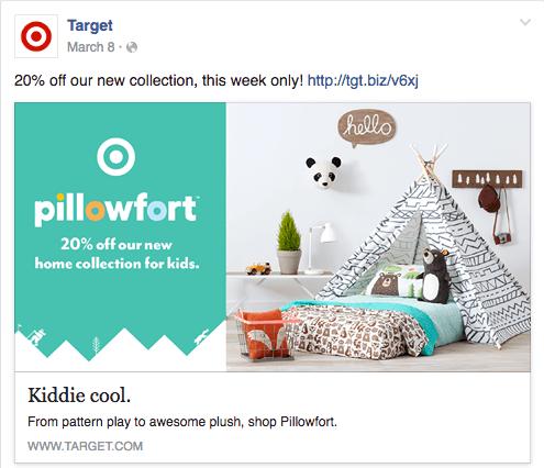 target facebook ad