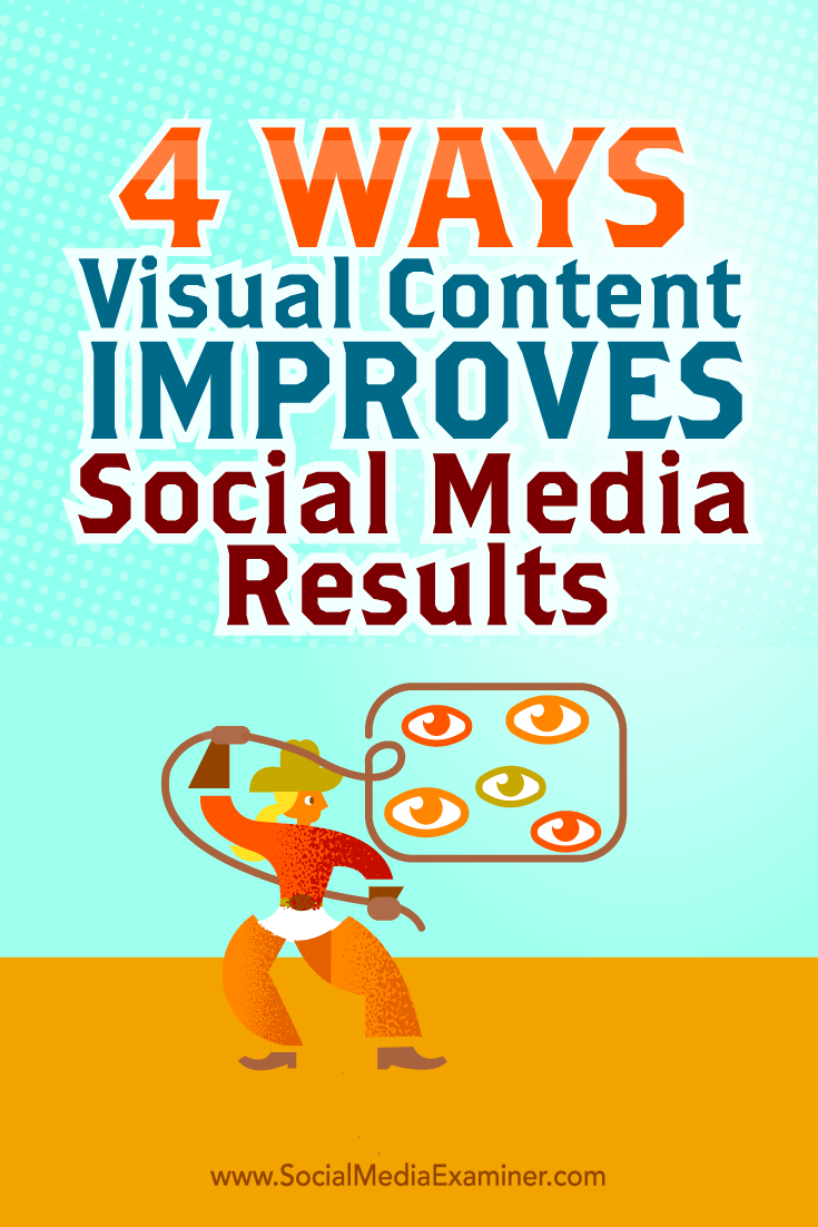 Tips on four ways you can improve your social media results with visual content.
