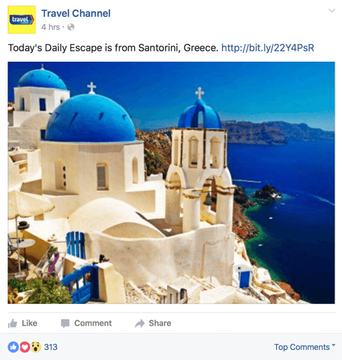 travel channel facebook post