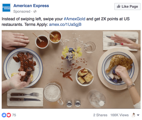 american express facebook video