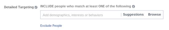 facebook ad detailed targeting