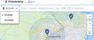 facebook ad exclude location