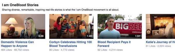 oneblood facebook videos