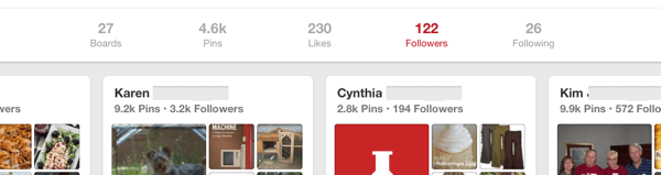 pinterest follower profiles