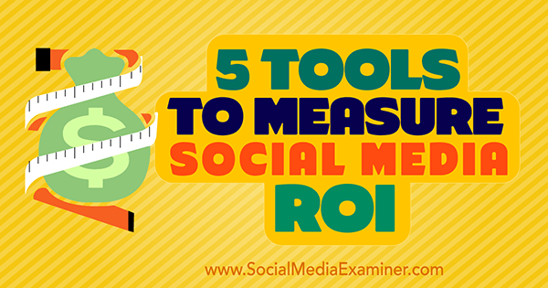 tools to measure social roi