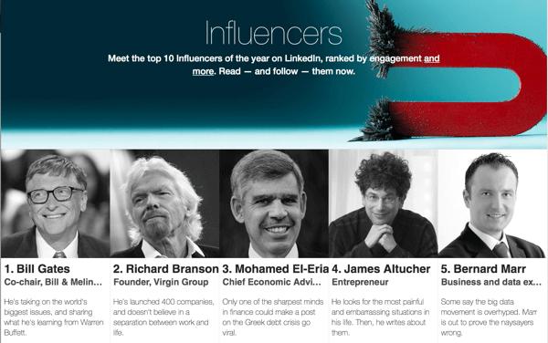 linkedin top 10 influencers
