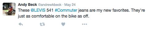 levi's customer tweet