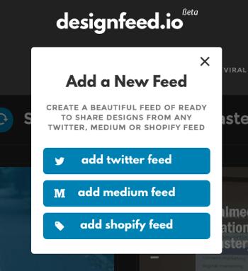 designfeed add feed