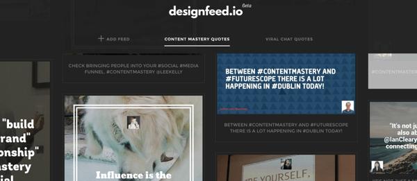 designfeed import content