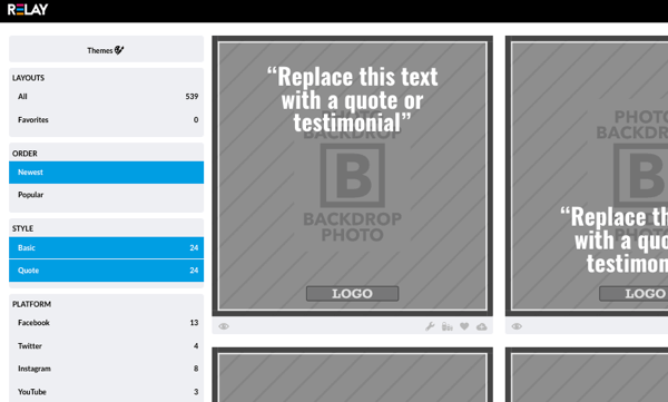 relay choose image style