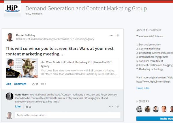 linkedin group conversation