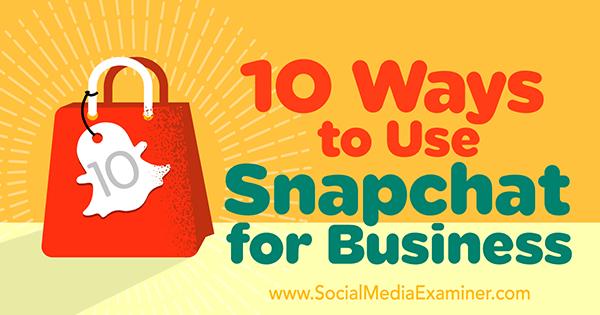 Geschäft auf Snapchat