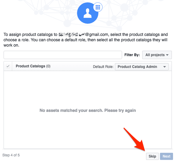 facebook assign product catalog