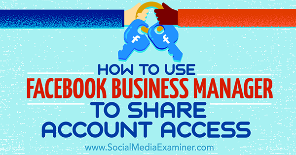 account access facebook business manager