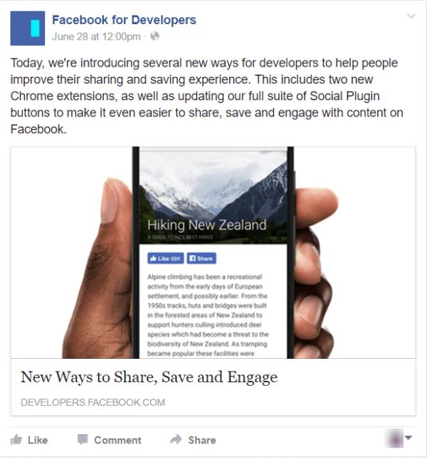 facebook updates like button