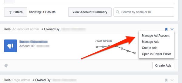 facebook request access to ad account