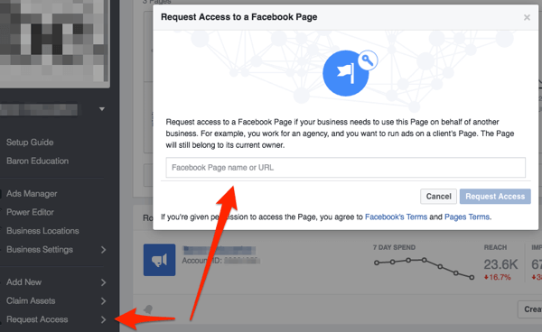facebook request access to page