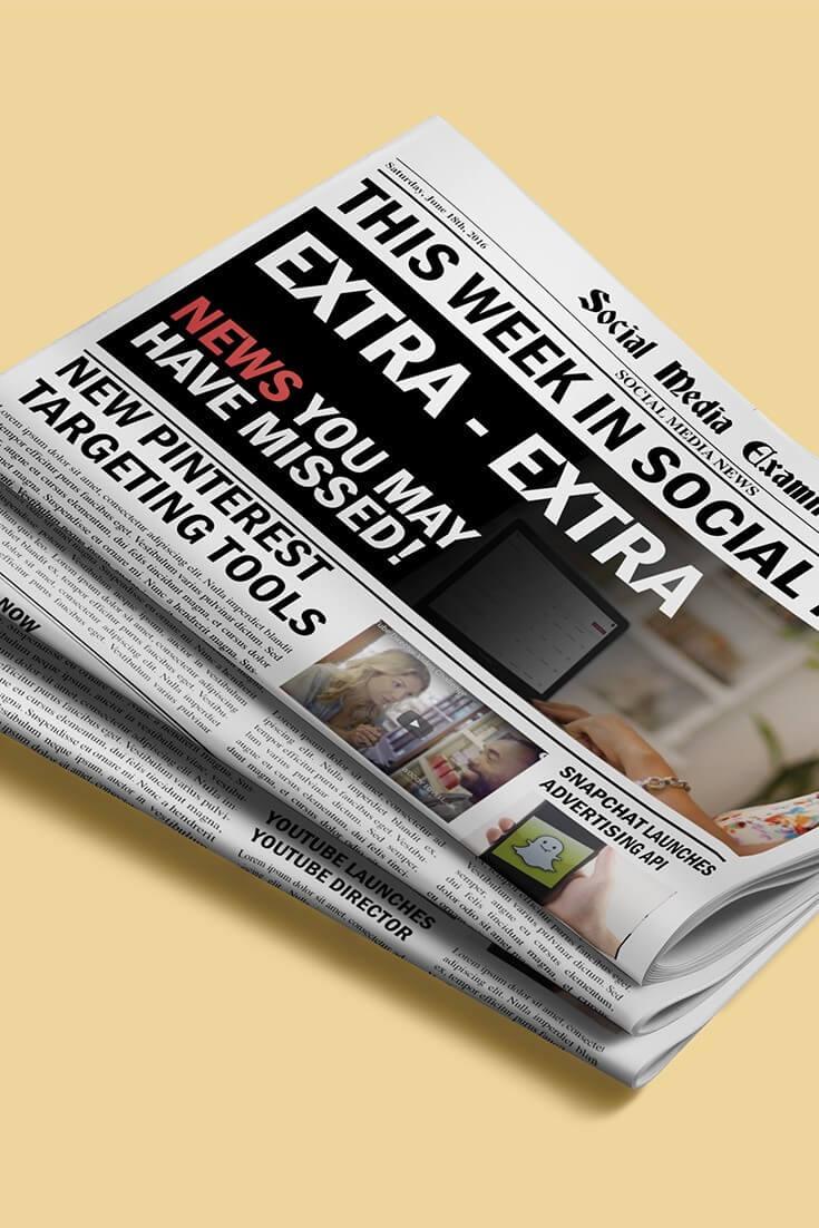 Pinterest führt Retargeting und andere Social-Media-Nachrichten für den 18. Juni 2016 ein.