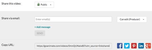 goanimate share video
