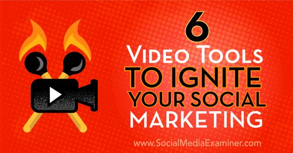 social marketing video tools