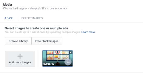 facebook ads add media