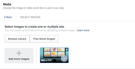 facebook ads add media