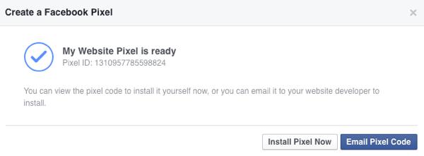 facebook ads create pixel