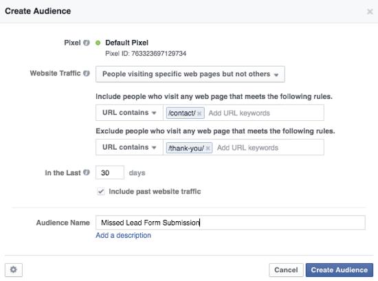 facebook ads custom conversion
